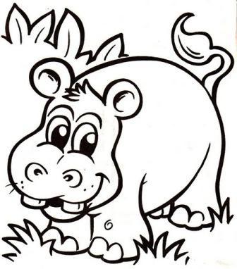 dibujos hipopotamos 1